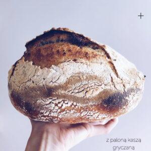 Świeżo Upieczona Chleb pszenny z paloną kaszą gryczaną
